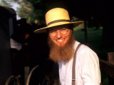 Man with Hat in Intercourse  Amish Country  Pennsylvania  USA