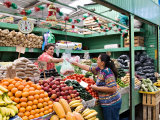 Fruit and Vegetable Stand in the Central Market  Mazatlan  Mexico