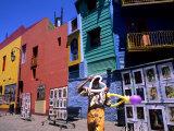 Clown in La Boca Region  Buenos Aires  Argentina