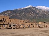 Taos Pueblo Buildings  New Mexico  USA
