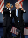 President-Elect Barack Obama and VP Joe Biden after Acceptance Speech  Nov 4  2008