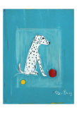 Dalmatian with Red and Yellow Ball