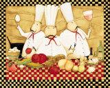 Three Chefs at Work