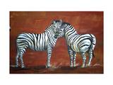 Zebra Love Reproduction d'art par Megan Aroon Duncanson