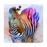 Zebra Dreams Reproduction d'art par Galen Hazelhofer