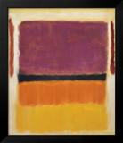 Untitled (Violet  Black  Orange  Yellow on White and Red)  1949