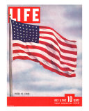 American Flag, July 6, 1942 Papier Photo par Dmitri Kessel