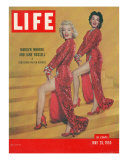 """Actresses Marilyn Monroe and Jane Russell in Scene from """"Gentlemen Prefer Blondes""""  May 25  1953"""