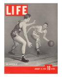 USC Basketball Player Ralph Vaughn Dribbling Past Teammate Tom McGarvin  January 15  1940