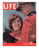 Jacqueline Kennedy Chatting with Canadian Mounted Policeman During Visit with JFK  May 26  1961