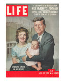Sen John F Kennedy and Wife Jacqueline Showing off Newborn Caroline Kennedy  April 21  1958