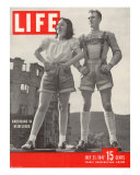 American Maybelle Davis and Jim Cash in Traditional Alpine Fashions  Postwar Germany  July 21  1947