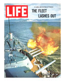 The Fleet Lashes Out  Bill Ray of USS Oklahoma Shelling the Viet Cong Off Vietnam  August 6  1965