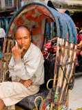 Portrait of Rickshaw Driver  Jaipur  Rajasthan  India
