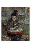 Woman at a Table in the Cafe du Tambourin Reproduction d'art par Vincent Van Gogh