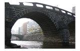 City Scenery Through Megane Bridge in Japan