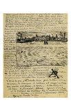 Sketch of Summer Evening in Arles in a Letter to Emile Bernard