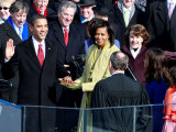 Barack Obama Sworn in by Chief Justice Roberts as 44th President of the United States of America