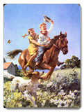 Cowboy and Cowgirl Horse
