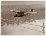 China Clipper in Flight over San Francisco  California 1939