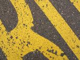 Close-Up of Bright Yellow Writing on Pavement  Switzerland