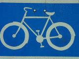 Metal Bicycle Sign