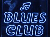 Neon Blues Club Sign