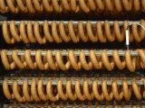 Links of Sausage Drying on Racks