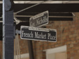 French Market Place Street Sign  New Orleans  Louisiana  Usa