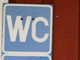 Public Toilet Directional Sign