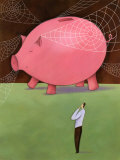Man with Giant Piggy Bank