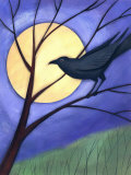 Raven in Tree by Moonlight