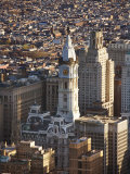 Aerial View of Historical Philadelphia City Hall in Philadelphia  Pennsylvania