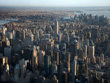Aerial View of Bustling New York City  New York