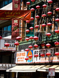 Exterior of Building Covered in Decorative Lanterns  San Francisco  California