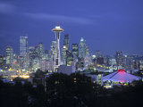 Seattle Skyline Fr Queen Anne Hill  Washington  USA