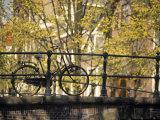 Bike on Bridge  Amsterdam  Holland