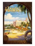 Hawaii, pays du surf et du soleil Giclée par Kerne Erickson