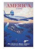 L'Amérique en clipper Giclée par Kerne Erickson