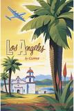Los Angeles en clipper Giclée par Kerne Erickson