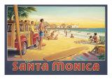 Visit Santa Monica Giclée par Kerne Erickson