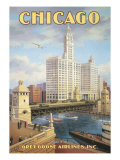 Chicago Giclée par Kerne Erickson
