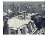 Vue de toits (Effet de neige)  dit Toits sous la neige