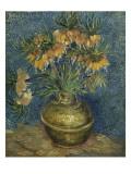 Fritillaires couronne impériale dans un vase de cuivre