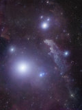 Supergiant Rigel and IC 2118 in Eridanus  Cederblad 41  the Witch Head Nebula