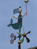 Colorful Mermaid Shaped Weather Vane  Brewster  Cape Cod  Massachusetts