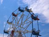 Ferris Wheel Against a Summer Sky  New London  Connecticut  USA