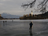 Hockey Players Brave the Cold and the Thin Ice for an Afternoon Game  Bled  Slovenia