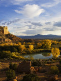 Peaceful Landscape Stretches to the Horizon  Santa Fe  New Mexico  USA