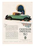 Chrysler Imperial  Magazine Advertisement  USA  1927